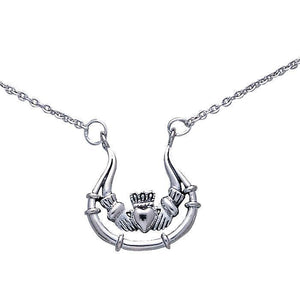 Irish Claddagh Silver Necklace TN067