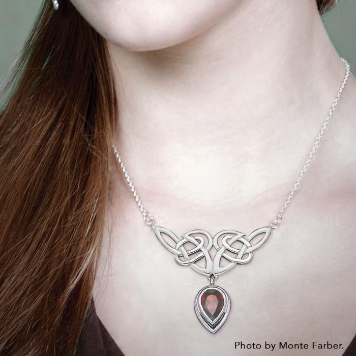 Celtic Knotwork Silver Necklace TN132