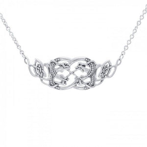 Celtic Quaternary Knot Snakes Necklace TN182