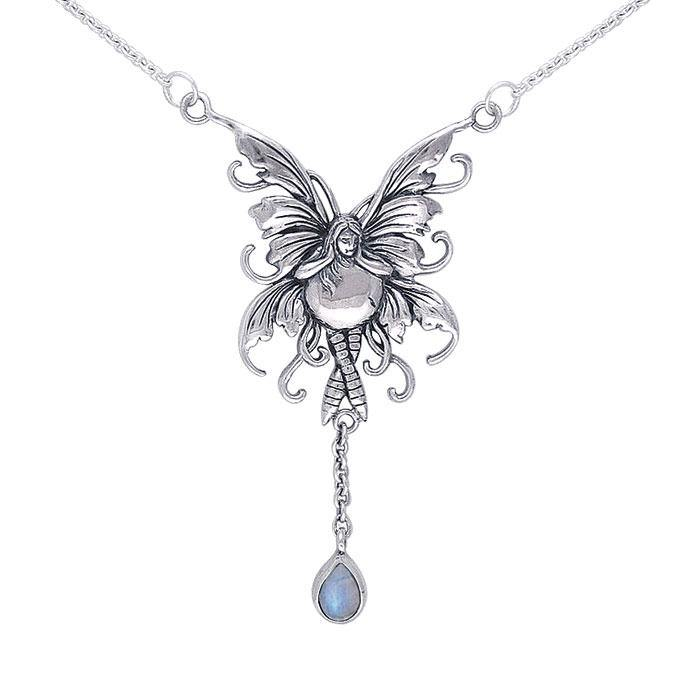 Bubble Rider Fairy Silver Necklace TN300