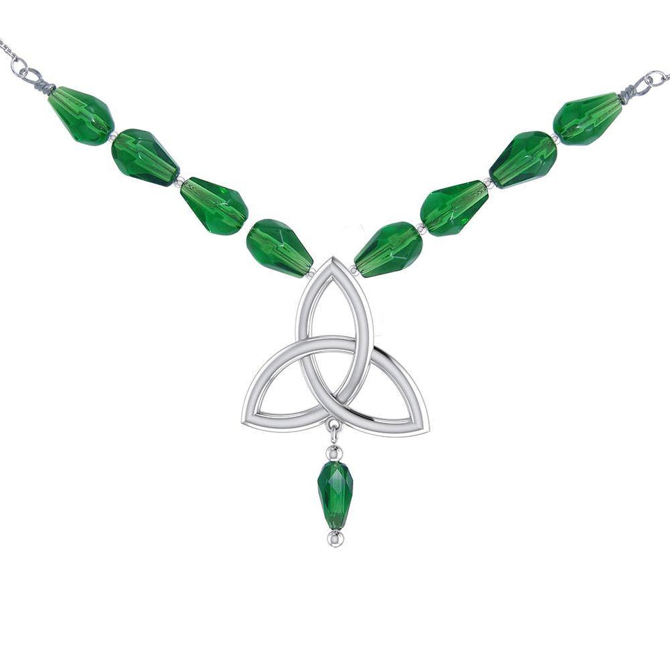 Celtic Knotwork Silver Triquetra Necklace TNC037