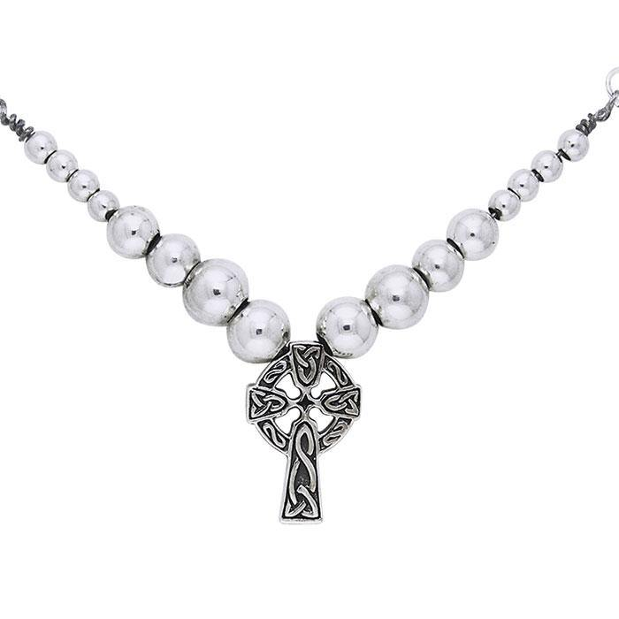 Celtic Knotwork Silver Cross Necklace TNC039