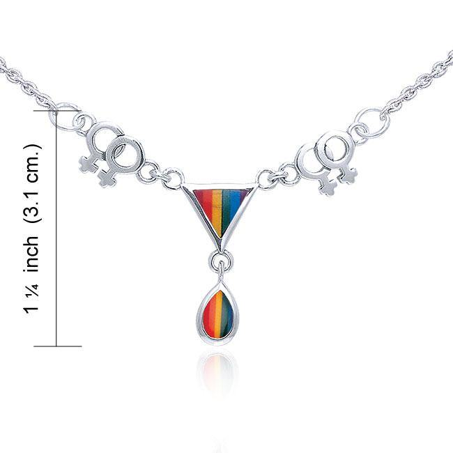 Two Women Triangles LGBTQ Necklace TNC043