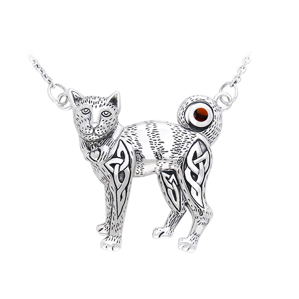 Celtic Cat Necklace