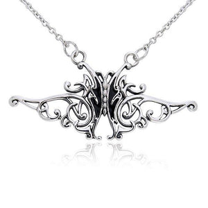 Silver Butterfly Necklace TNC080 peterstone.