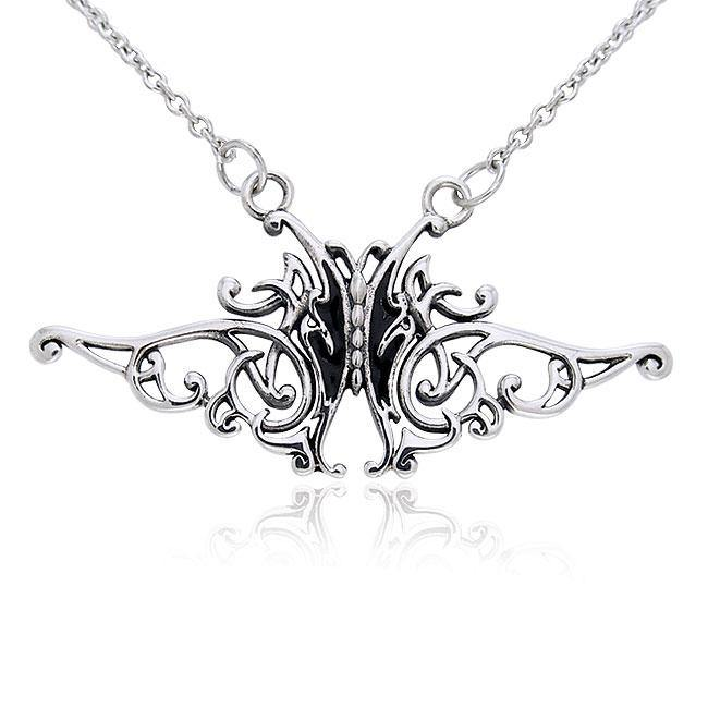 Silver Butterfly Necklace TNC080
