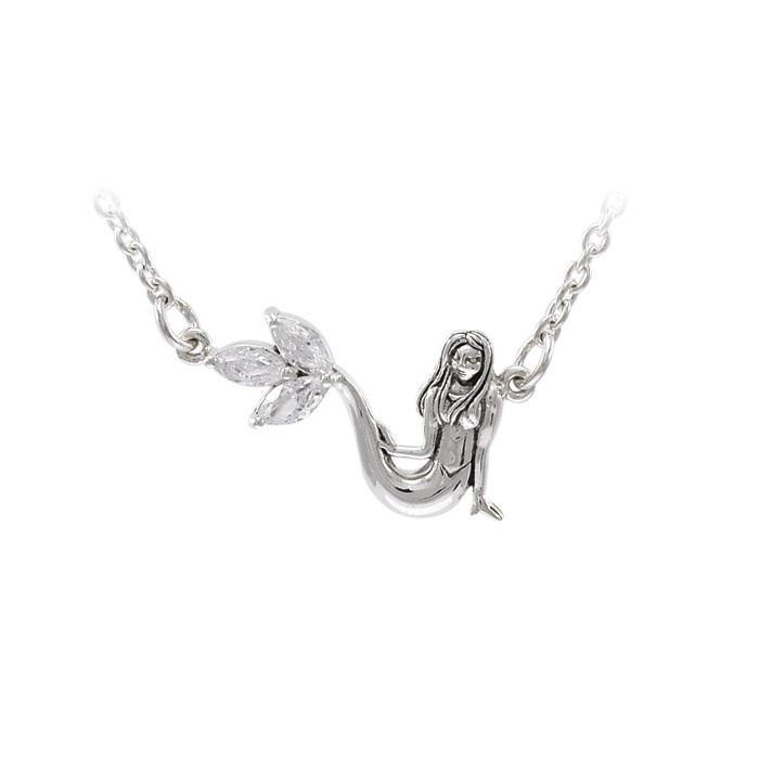 Mermaid Silver Necklace TNC343 peterstone.
