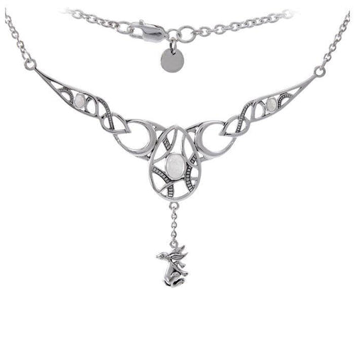 White Rabbit New Beginnings Goddess Ostara Silver Necklace TNC416P peterstone.