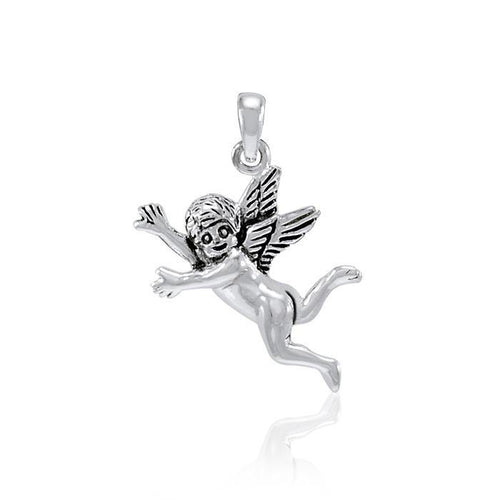Cupid Sterling Silver Pendant TP078