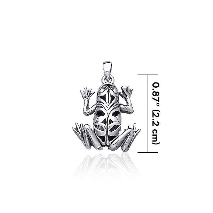 Knotwork Frog Silver Pendant TP2510