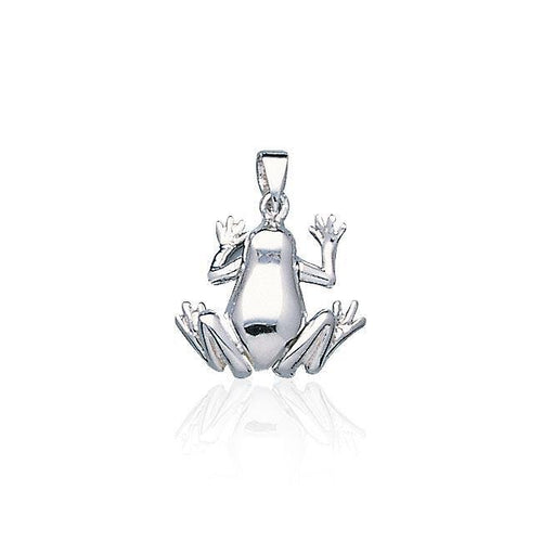 Smooth Frog Silver Pendant TP2524