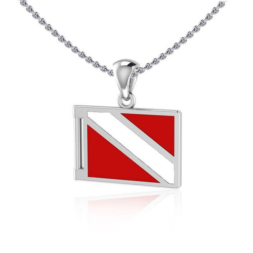 Dive Flag Sterling Silver Pendant TP2705 peterstone.