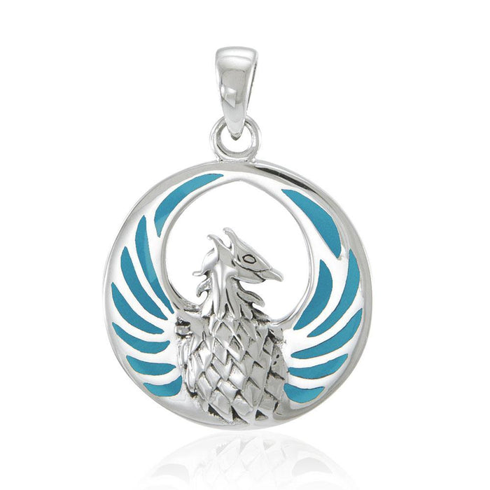 Silver Phoenix Pendant with Gem TP2819