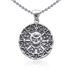 Pirate Skull Coin Pendant TP3097 peterstone.