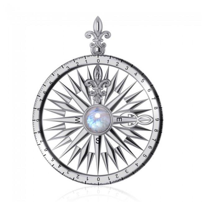 Follow the Compass of your life ~ Sterling Silver Pendant with Gemstone TP3152 peterstone.