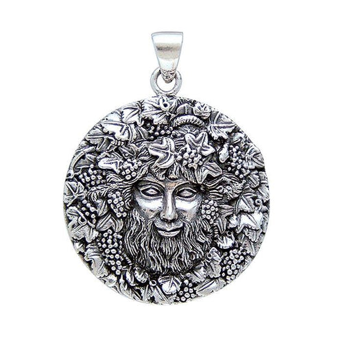 TP3203 Bacchus with Grapes Silver Pendant