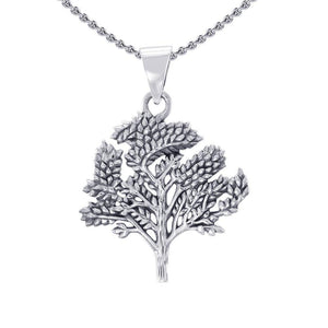 Leaf Sterling Silver Pendant TP3217 peterstone.