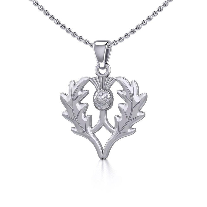 Scottish Thistle Silver Pendant TP3258