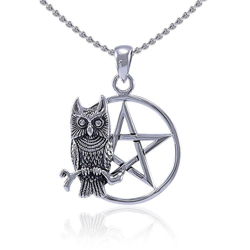 Sitting Owl with The Star Pendant TP3320 peterstone.