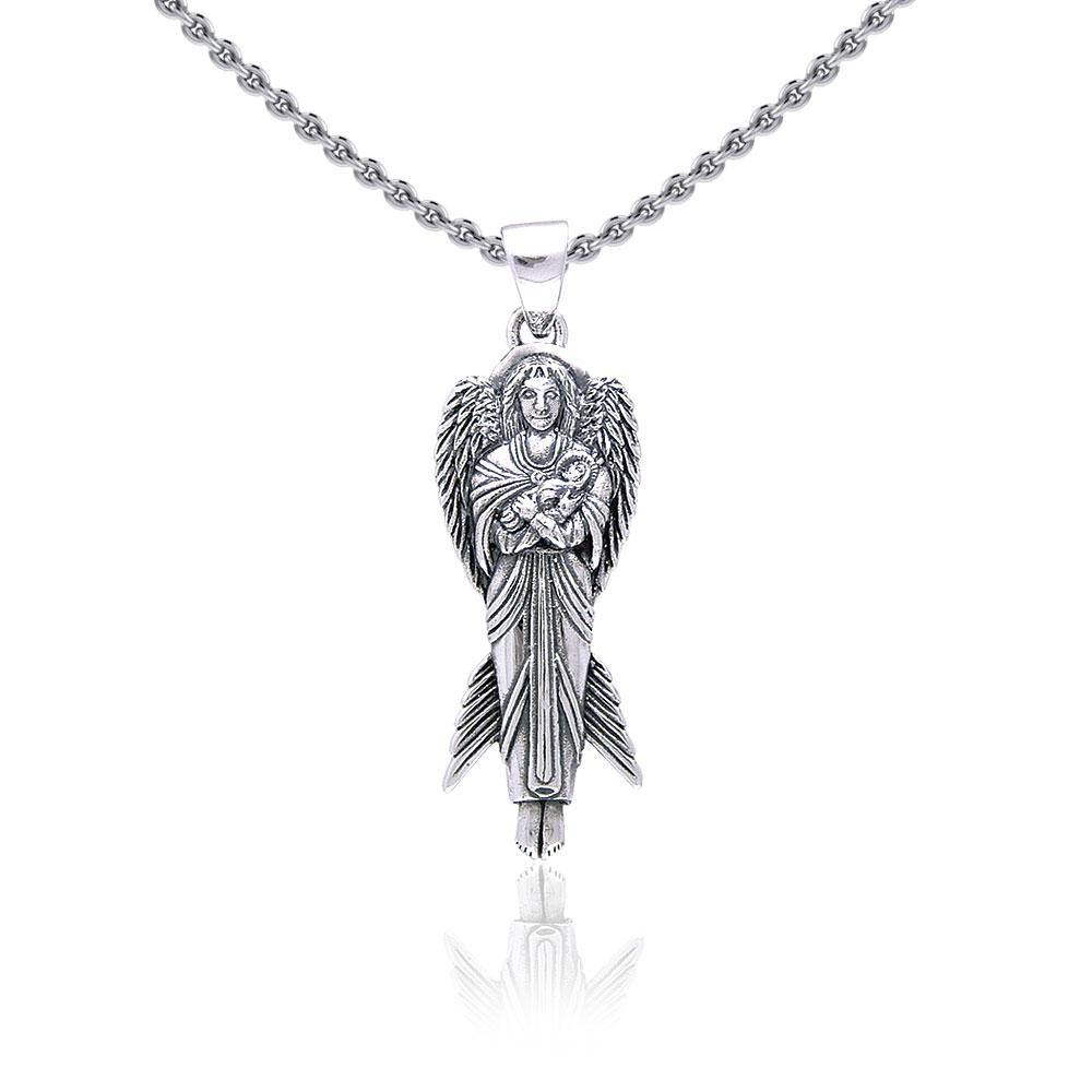 Angel of New Hope Silver Pendant TP3410 peterstone.
