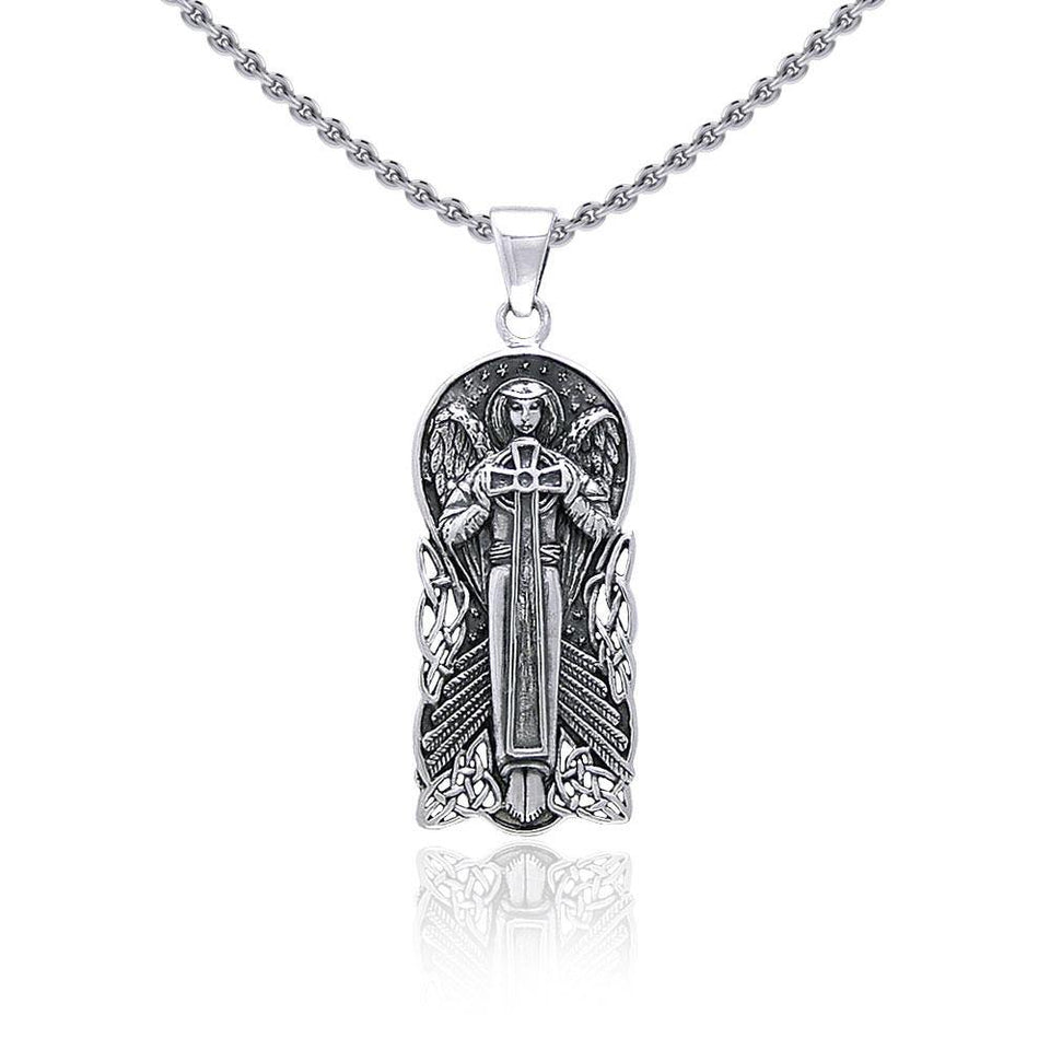 Celtic Angel Of Devotion Silver Pendant TP3442