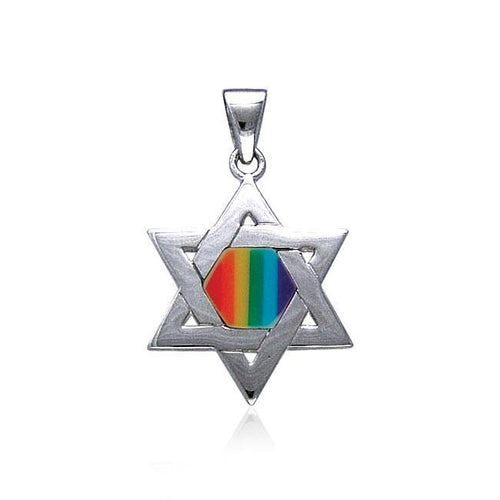Star of David Rainbow Pendant TP3520 peterstone.