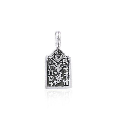 Ten Commandments Silver Pendant TP3536 peterstone.