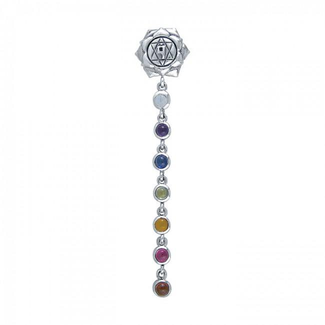 Silver and Gems Chakra Life Force Pendant TP3574 peterstone.