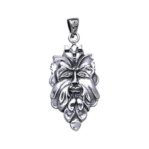 Green Man Silver Pendant TP710 peterstone.