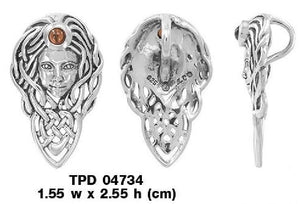 Celtic Queen Maeve Sterling Silver Pendant TPD4734 Pendants