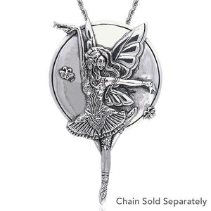 Mauve Dream Fairy Silver Pendant TPD104 peterstone.