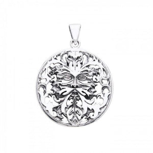 Oberon Zell Green Man Silver Pendant TPD1040 peterstone.