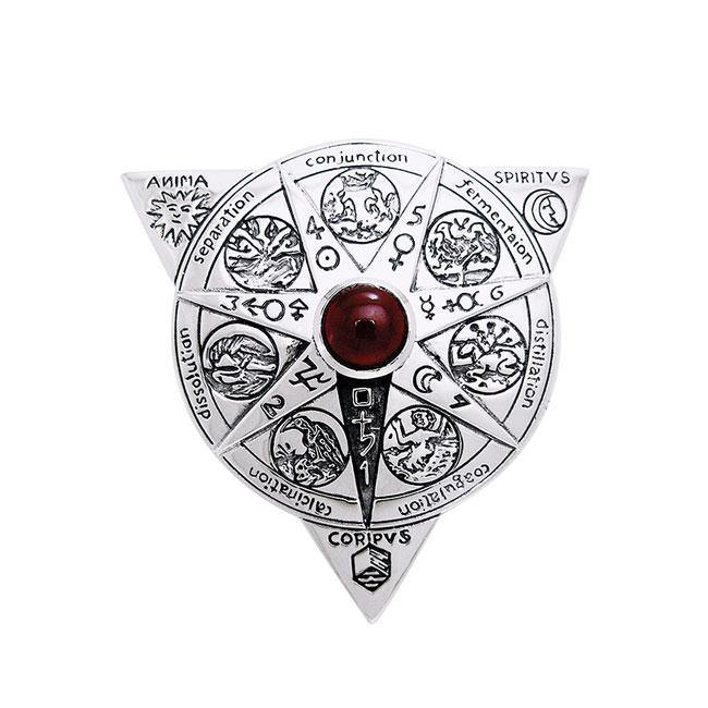 Beyond the Wonderful Transformation in Alchemical Mandala Sterling Silver Pendant TPD1123