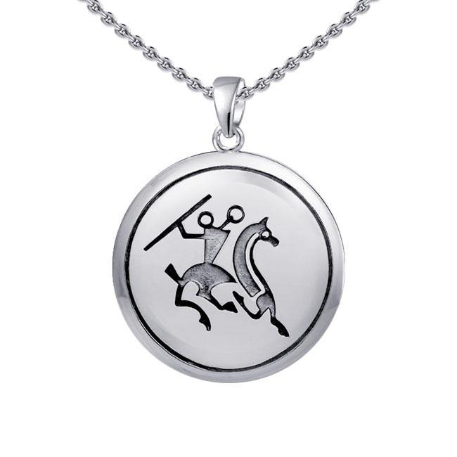 Viking Warrior Sterling Silver Pendant TPD1128