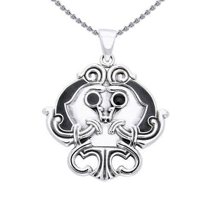 Wear your marvelous treasure ~ Viking Borre Sterling Silver Pendant Jewelry TPD1130