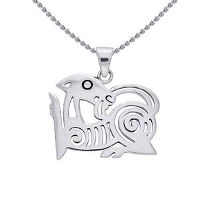 Viking Borre Sterling Silver Pendant TPD1141 peterstone.