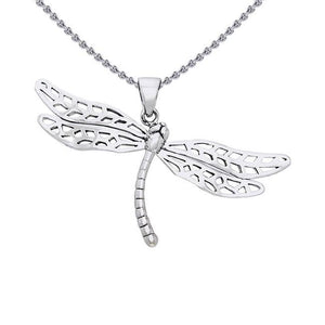 Colorful changes await ~ Dragonfly Sterling Silver Pendant Jewelry TPD1153