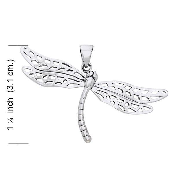 Colorful changes await ~ Dragonfly Sterling Silver Pendant Jewelry TPD1153 peterstone.
