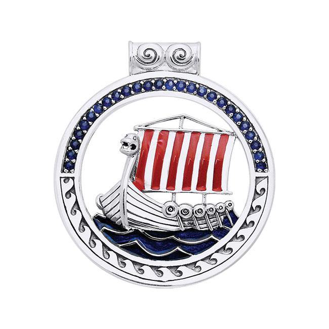 The journey to the Seven Seas ~ Viking Ship Sterling Silver Pendant Jewelry TPD1191 peterstone.