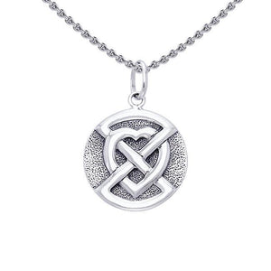 Buried Heart Sterling Silver Pendant TPD1194 peterstone.