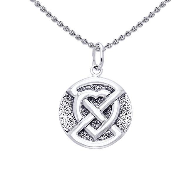 Buried Heart Sterling Silver Pendant TPD1194