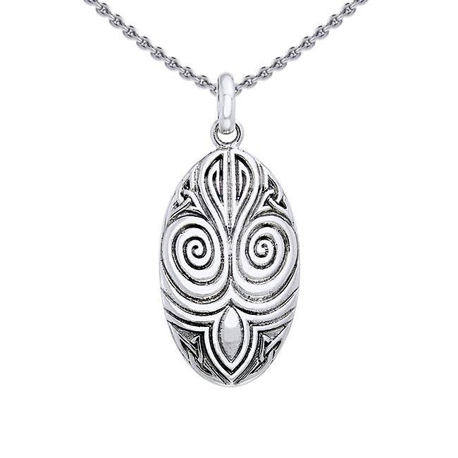 A revered tradition ~ Sterling Silver Celtic Maori Pendant Jewelry TPD1206