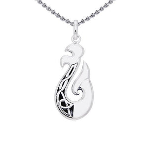 The delicate art of strength ~ Sterling Silver Viking Urnes Pendant Jewelry TPD1207