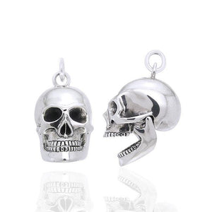 Moveable Skull Silver Pendant TPD1221 peterstone.