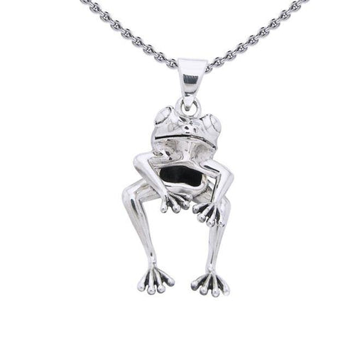 Frog Sterling Silver Pendant TPD1301