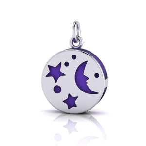 Moon Aromatherapy Silver Pendant TPD1405 peterstone.
