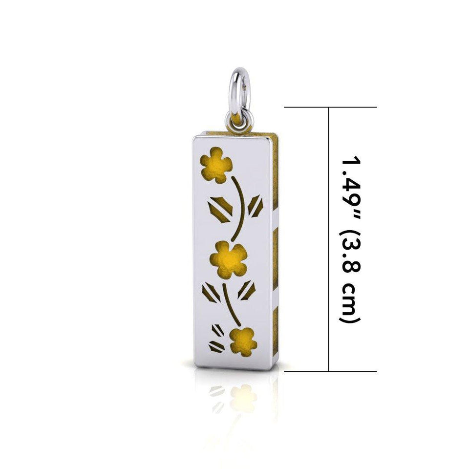 Flower Aromatherapy Silver Pendant TPD1406 peterstone.