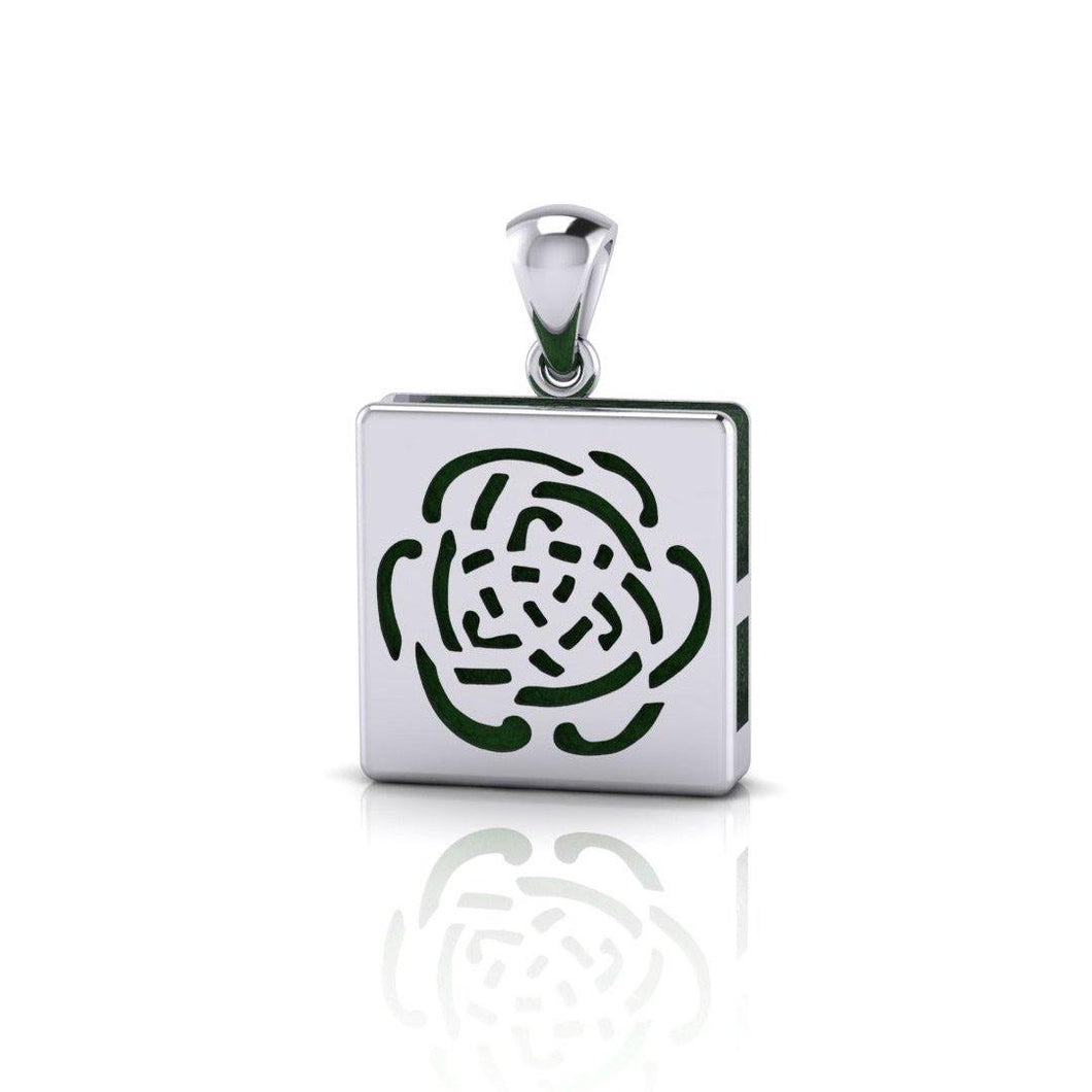 Rose Aromatherapy Silver Pendant TPD1409
