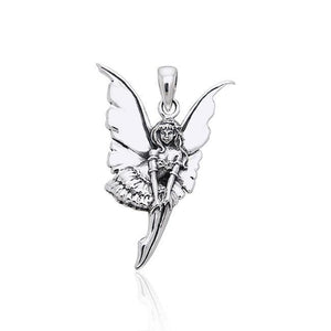 Amy Brown Dainty Fairy ~ Sterling Silver Jewelry Pendant TPD1648 peterstone.