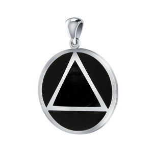 AA Symbol Silver Pendant TPD170 peterstone.